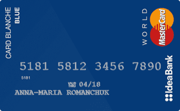 Кредитная карта «Card Blanche Blue»